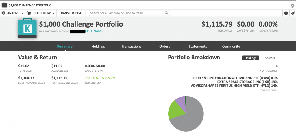 Challenge Investment Portfolio Overview