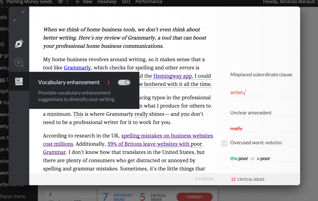 Grammarly Premium Home Business Tools