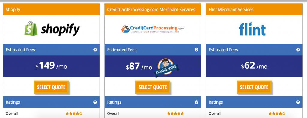 Merchant account provider comparison