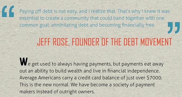 Debt Movement Infographic