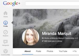 Set up your google plus profile