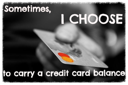 carry a credit card balance