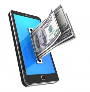 Cellphone with dollars